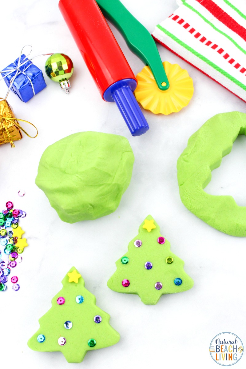 Christmas Playdough Recipe and Fun Christmas Crafts for Kids