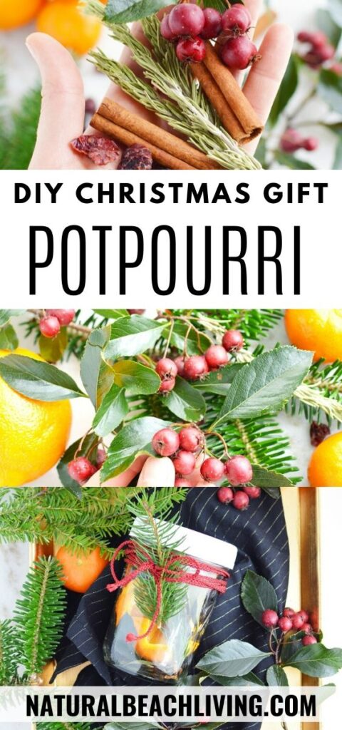 Don't miss out on making this simple Christmas Potpourri in a Jar! It's the perfect Mason Jar craft that looks and smells amazing! Christmas Potpourri smells amazing and makes the perfect DIY gift idea, Make The Best Christmas mason jars gift ideas for friends and family with this Potpourri Recipe