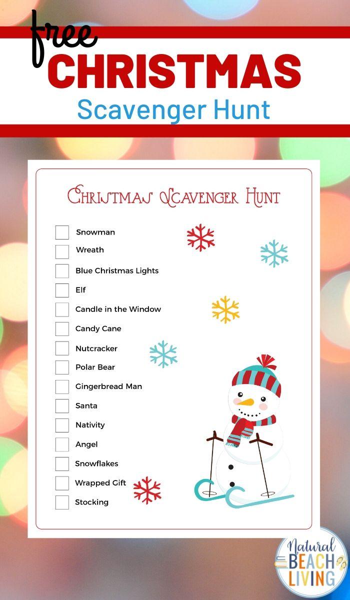 Christmas Scavenger Hunt Free Printables for Kids