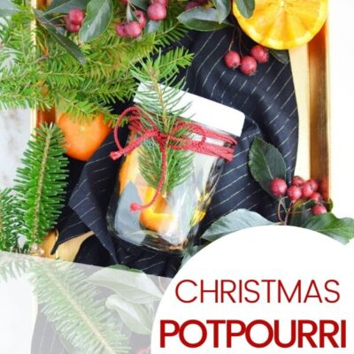 Christmas Potpourri in a Jar for your DIY Christmas Gifts