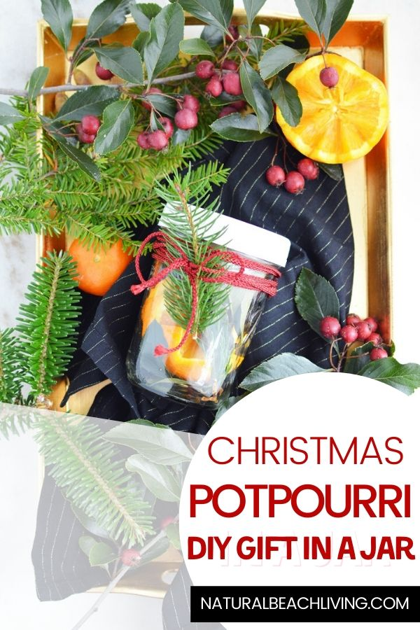 Don't miss out on making this simple Christmas Potpourri in a Jar! It's the perfect Mason Jar craft that looks and smells amazing! Christmas Potpourri smells amazing and makes the perfect DIY Christmas gift idea, Make The Best Christmas mason jars gift ideas for friends and family with this Potpourri Recipe