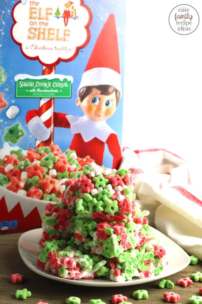 These Elf on the Shelf Cereal Treats is a fun Christmas treat that your family and friends will love to eat. This Elf on the Shelf dessert is really easy to make and is a great snack to have on hand. Plus, making snacks with your kids that are fun and festive is the best.