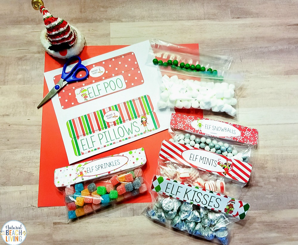 Check out these Fun Elf on the Shelf Goodie Bag ideas. They're a great silly elf gift idea for your family and friends. If you're looking for some fun Elf on the Shelf ideas and free elf printables, check out these great Elf on the Shelf Gift Tags! Elf Treat Bags, Plus, they are Editable free printables for Christmas, Find The Best Elf Ideas Here!