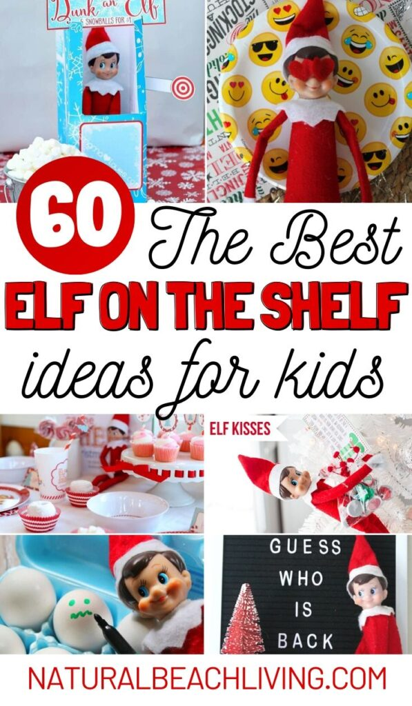 60 Elf on the Shelf Ideas Everyone Will Love, Elf on the Shelf Ideas for Kids, Funny Elf on the Shelf ideas, Easy Elf on the Shelf Ideas, Christmas Traditions and Activities, Elf on the Shelf ideas for kids and Toddlers and The Elf on the Shelf Arrival
