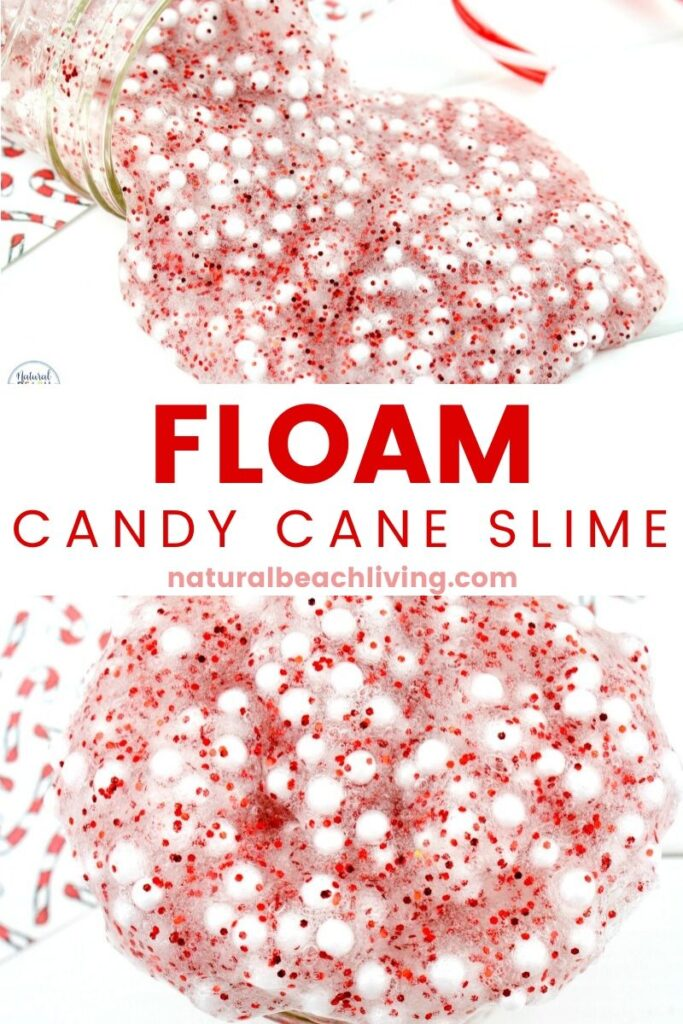 This Floam Candy Cane Slime Recipe is a great way to get excited about the holidays. It's full of fun and crunchy texture that the kids will love! Floam Slime and How to make Crunchy Slime in an easy way with only a few ingredients. This Candy Cane Slime is also the Best Christmas Slime for an Easy Slime Recipe
