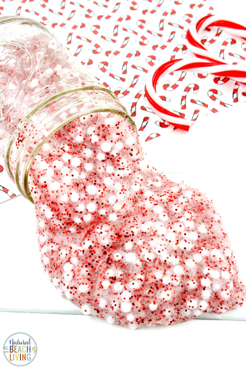 Floam Candy Cane Slime Recipe Perfect Christmas Slime