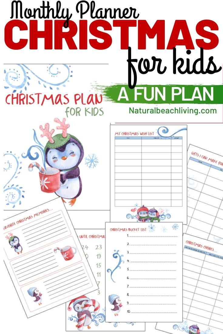 Free Christmas Planner for Kids – The Best Printable Christmas Activities