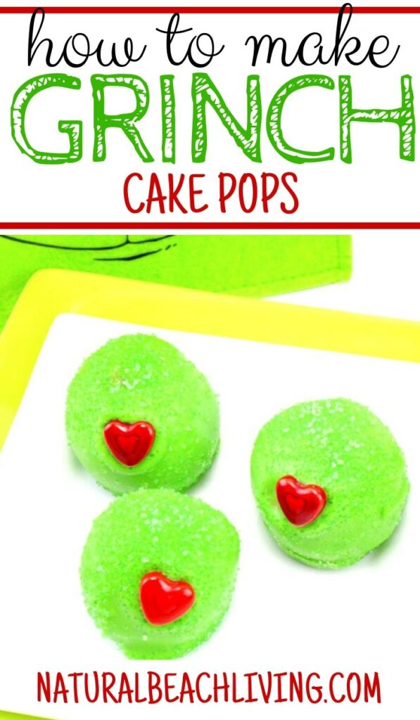 The Best Grinch Snacks, These Grinch Cake Balls are the perfect dessert for a Christmas Party or Grinch Party Idea, Everyone loves Grinch Party Food, Make Grinch Cake or Grinch Balls for a fun Grinch Party snack, Delicious Christmas Cake Pops everyone will love, Grinch snacks for Kids, Christmas snacks for kids