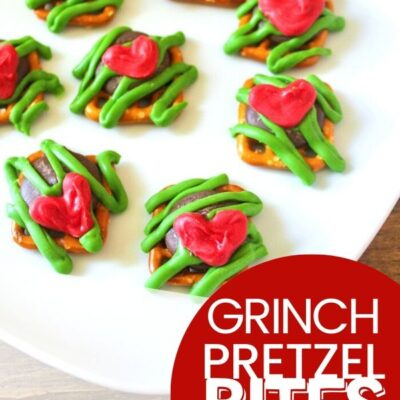 Grinch Pretzel Snack Bites for a Perfect Christmas Snack Idea