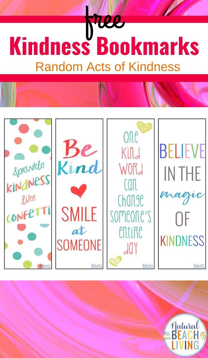 Kindness Bookmarks Printable Bookmarks for Kids