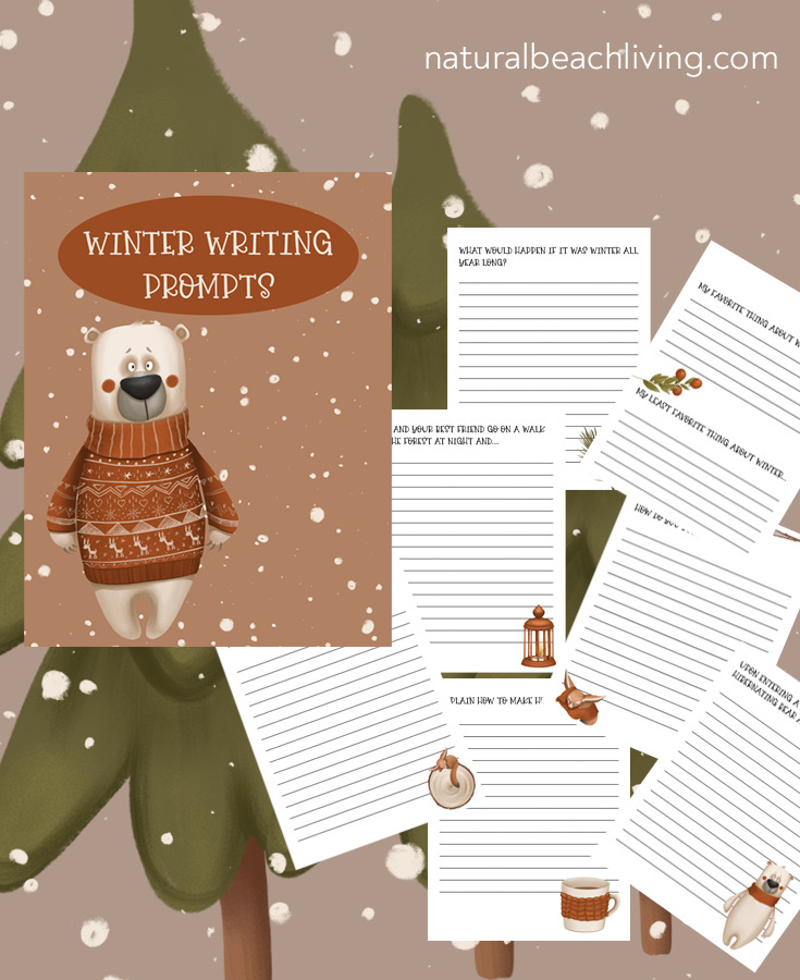 These winter writing prompts are the perfect way to encourage writing and indoor activities during the cold winter months. Plus, they're free printables for kids, Free Winter Writing Prompts for Kids is a great way for kids to use their imagination and write while keeping it exciting.