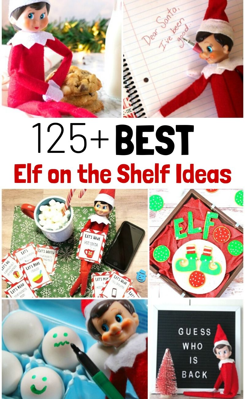 Over 125 of The Best Elf on the Shelf Ideas that you can easily do at home. With so many funny elf on the shelf ideas, it's going to be the best holiday ever! Kids will love The New Elf on the Shelf Ideas and Easy Elf on the Shelf Ideas with Free Elf Printables and even Kindness Elf ideas and alternatives
