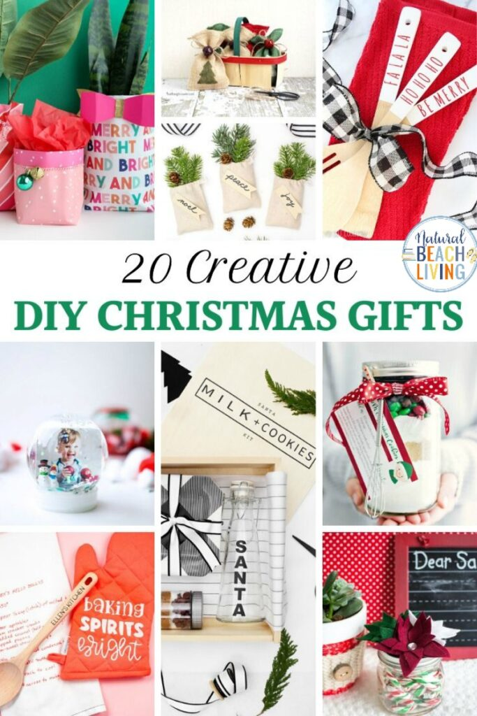 These Creative Christmas Gifts are a fun way to make homemade and DIY Christmas gifts that everyone will love! Plus these Unique Christmas Gift Ideas are so simple and affordable! Whether you need Christmas Gifts for Friends or Family we have hundreds of great Gift ideas