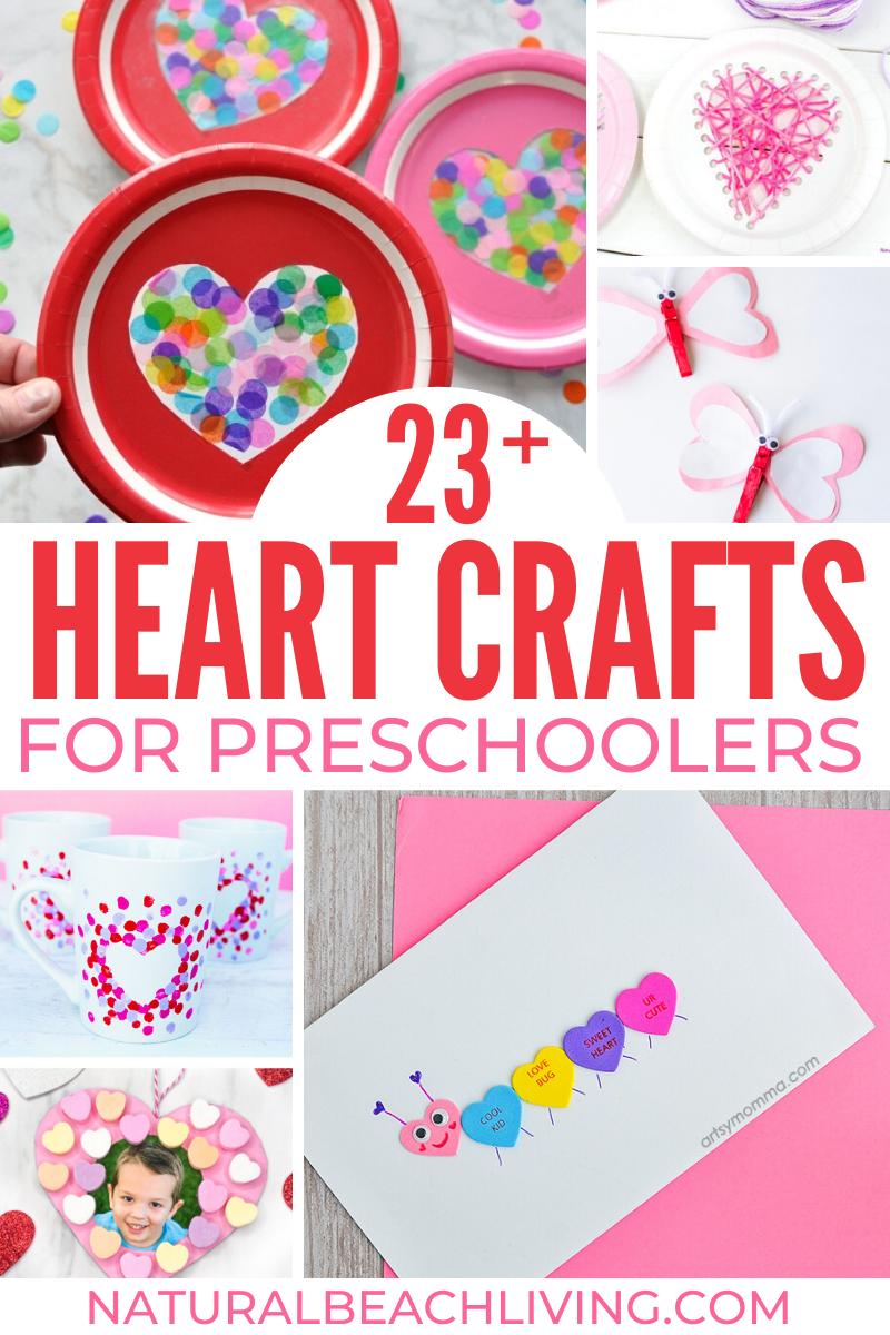 23+ Best Heart Crafts for Preschoolers