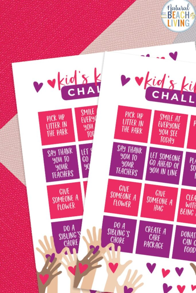 This Kindness Challenge for Kids is a great way to get your kids active and spreading kindness and joy. This kindness printable is helpful for Random Acts of Kindness Ideas! The idea for Random Acts of Kindness for Kids is perfect for home or in a classroom. Have a Kindness Challenge and include any of these 100+ Acts of Kindness Ideas, Kid's Kindness Challenge
