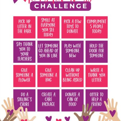 Kindness Challenge for Kids – Free Kindness Printable