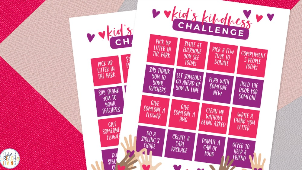 This Kid's Kindness Challenge is a great way to get your kids active and spreading kindness and joy. This kindness printable is helpful for Random Acts of Kindness Ideas! The idea for Random Acts of Kindness for Kids is perfect for home or in a classroom. Have a Kindness Challenge and include any of these 100+ Acts of Kindness Ideas
