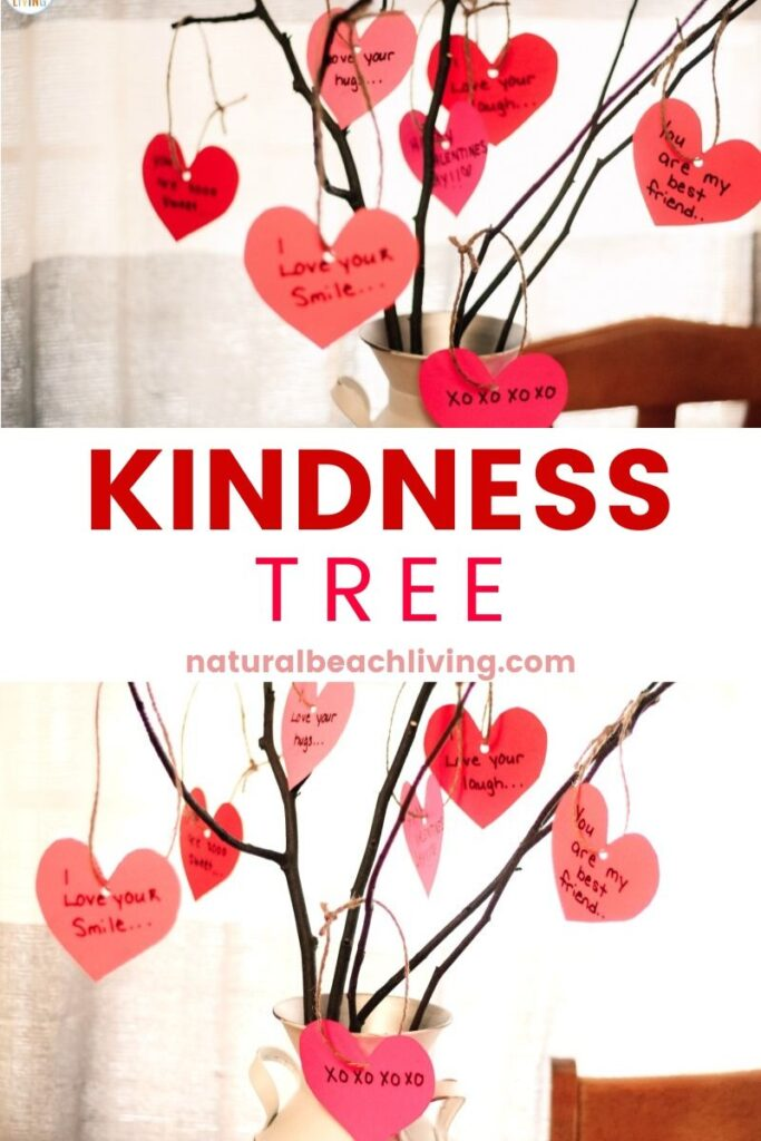 This Kindness Tree is a simple activity for random acts of kindness and an easy way to promote kind acts at home or in a classroom. Celebrate and encourage kindness with children. All you need are a few supplies to create a beautiful DIY Kindness tree and it becomes a favorite Random Acts of Kindness Idea.