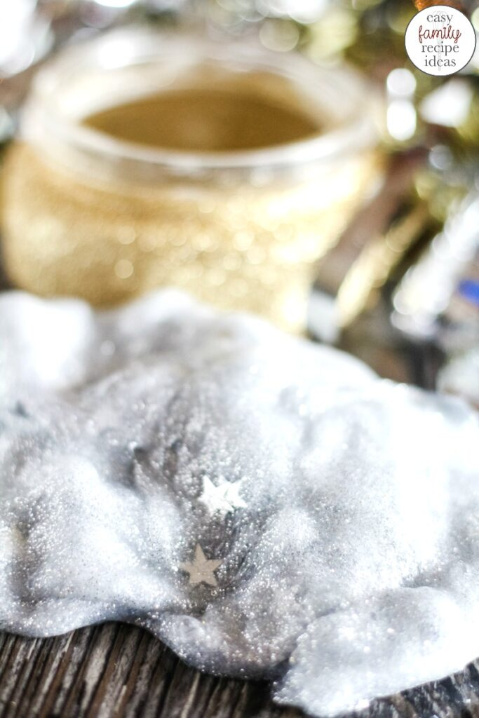You're going to love the ease of this New Years Eve Slime! It's a simple clear slime recipe that will have everyone celebrating in the New Year fun!  Plus, your children can create a fun Glitter Craft Jar to put their slime in. This DIY slime recipe makes the Perfect Party Slime!