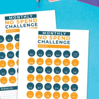 No Spend Challenge Free Printable and Activities