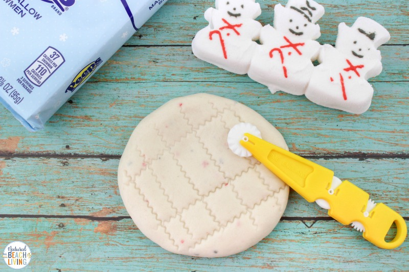 This Peeps Edible Snow Playdough recipe is so much fun for kids! They will have so much fun playing with this Homemade Playdough, This Peeps Playdough Recipe is super easy playdough to make! All edible so don't worry if your toddlers take a bite! Snow Playdough for Winter Sensory Play