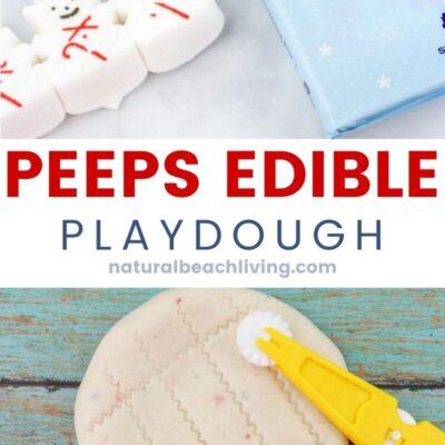 Peeps Edible Snow Playdough – Easy 3 Ingredient Recipe