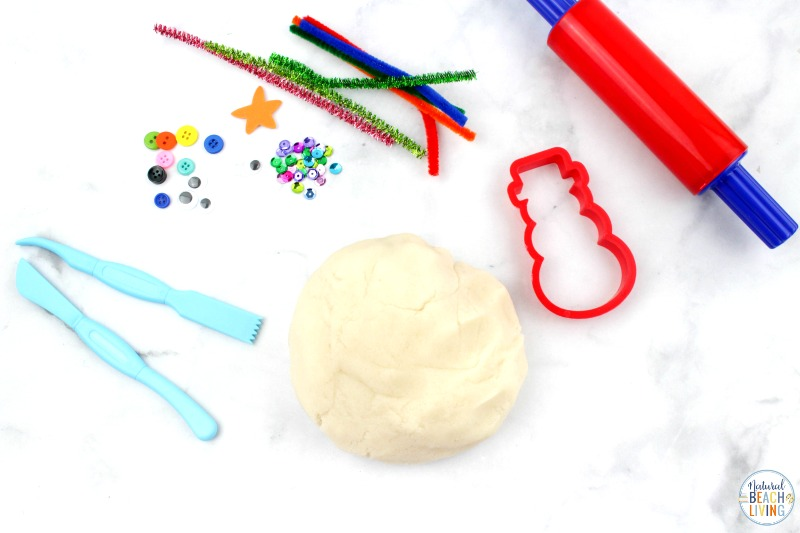 This Snow Playdough recipe is such a fun winter playdough activity for kids. All you need are a few simple supplies to make homemade snow dough. Make your own playdough snowman kit or add this snowman activity to your winter preschool themes for Snow playdough, Snowman playdough ideas and Snow Dough Playdough Recipe