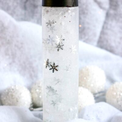 Snow Sensory Bottles for Winter Sensory Play