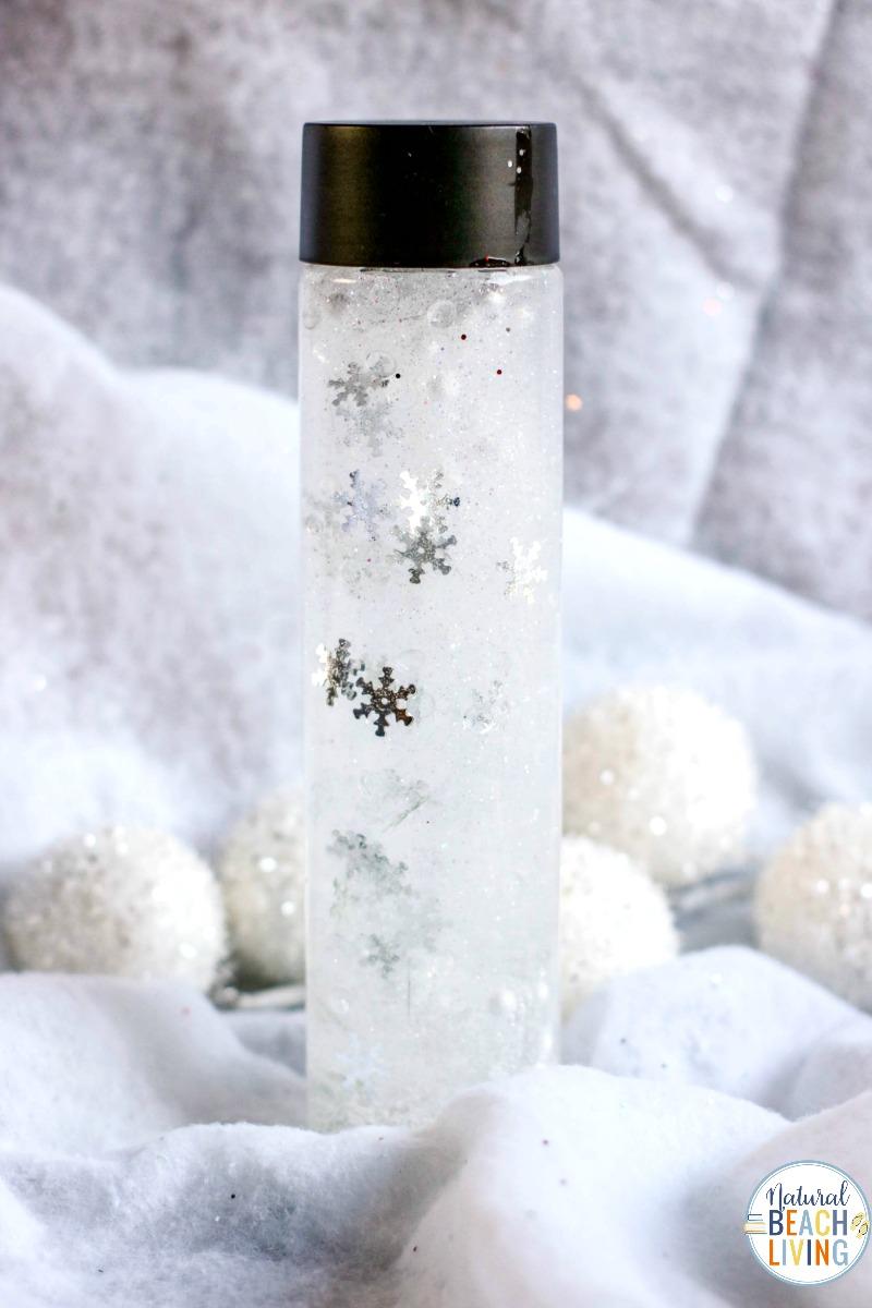 Snow Sensory Bottles for Winter Sensory Play