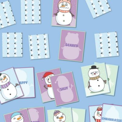 Snowman Emotions and Feelings Memory Game