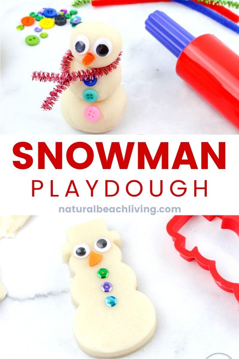 Snow Playdough Recipe Snowman Playdough Kit