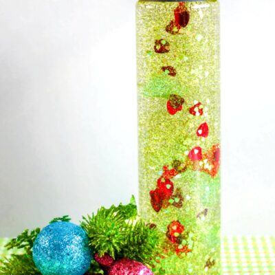 The Grinch Sensory Bottles Make Perfect Christmas Sensory Play