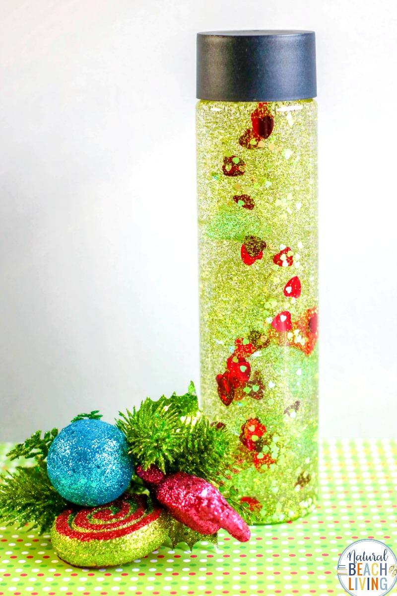 The Grinch Sensory Bottles Make Perfect Christmas Sensory Play