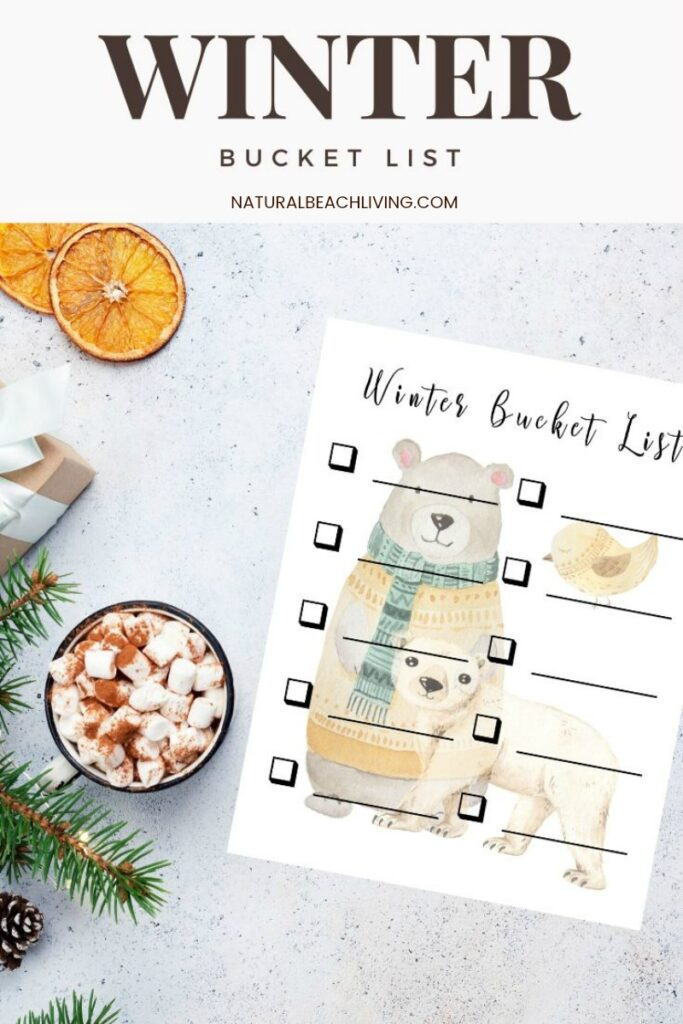 Check out this Winter Bucket List Printable. You can make your own Winter To Do List or use one of these Winter Bucket List Ideas, It's packed full of great ideas that you can easily do with your family. They're fun and simple! Find The Best Bucket Lists and Winter Bucket List for Families Here!