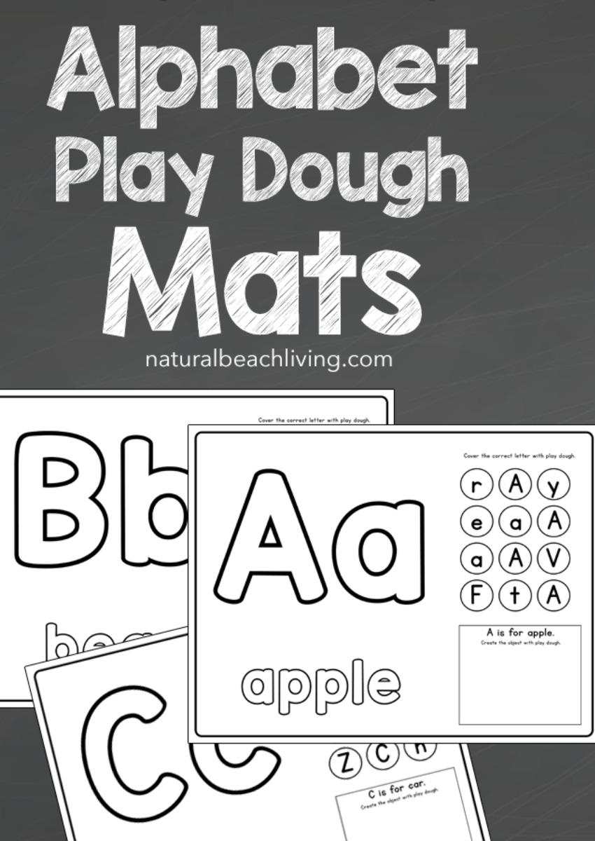Alphabet Playdough Mats Printable Worksheets