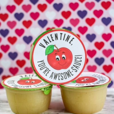 Applesauce Valentine Printable – Free Valentines Day Cards