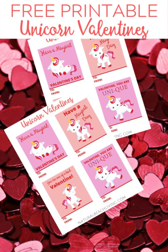 Have fun with these Free Unicorn Valentine Cards! They're so adorable and a great Valentine's Day cards for kids, Whether you need a Preschool Valentine Cards, Kindergarten Valentine Cards, or Children's Valentine cards printable, these are perfect.