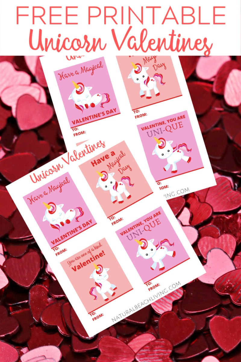 free unicorn valentine cards perfect for kids  natural