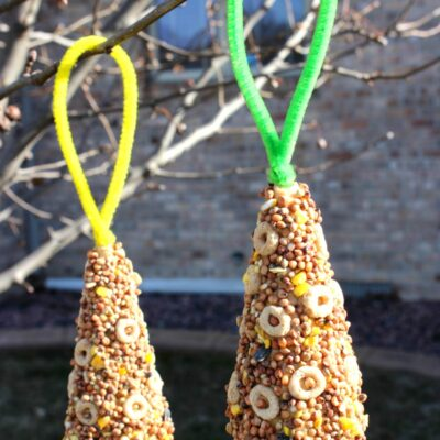 Ice Cream Cone Bird Feeder – Easy Bird Seed Ornaments You Can Make