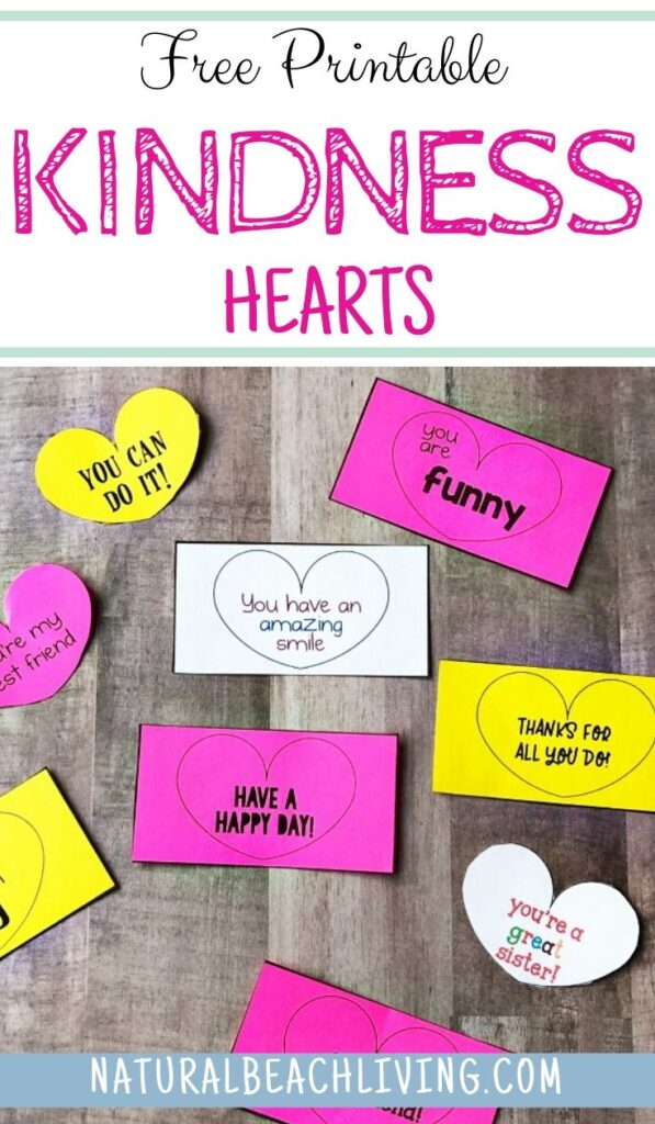 These Kindness Hearts are a fun way to spread cheer easily to others. It's amazing what a few kindness cards can do for someone's day. These Random Acts of Kindness Ideas for Kids will spread happiness and love to others. Share Acts of Kindness Heart Cards for Random Acts of Kindness at School, at home, or around town. Great for Valentine's Day Cards too