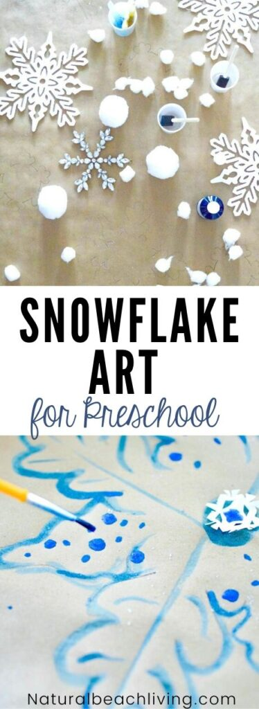 This simple Snowflake Art for Preschool really gets the creativity going! If you're looking for winter activities for Kids, Snowflake Art is Perfect! As snowflakes are all original, this Snowflake Process Art for Preschoolers is the same way. Now is the perfect time for Snow Day Activities and to enjoy Snowflake Activities for Preschool and Kindergarten.