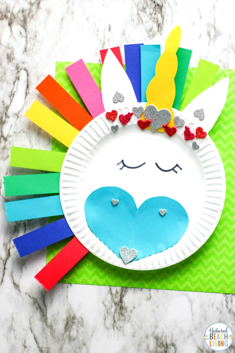 Rainbow Unicorn Paper Plate Craft for Kids