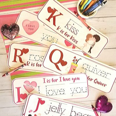 Valentine's Day Preschool Alphabet Activities