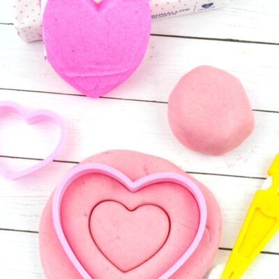 Valentine Edible Peeps Playdough