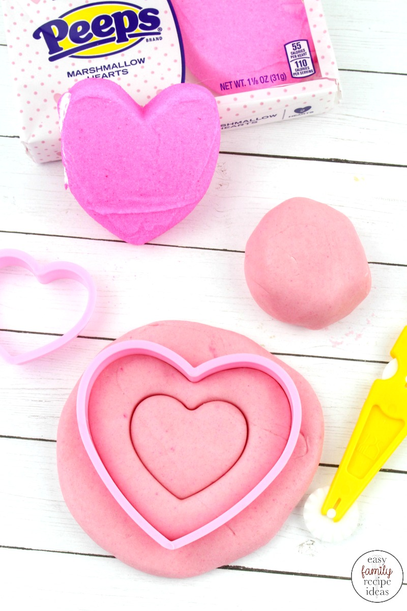 Valentine Edible Peeps Playdough