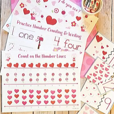 Valentine's Day Math for Preschoolers