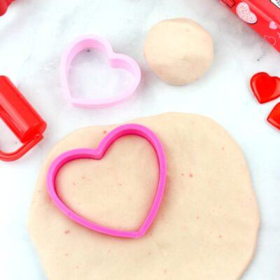 Valentine Peeps Playdough Recipe – Edible Marshmallow Playdough for Kids