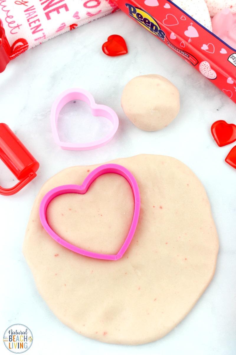 Valentine Peeps Playdough Recipe – Edible Marshmallow Playdough for Kids