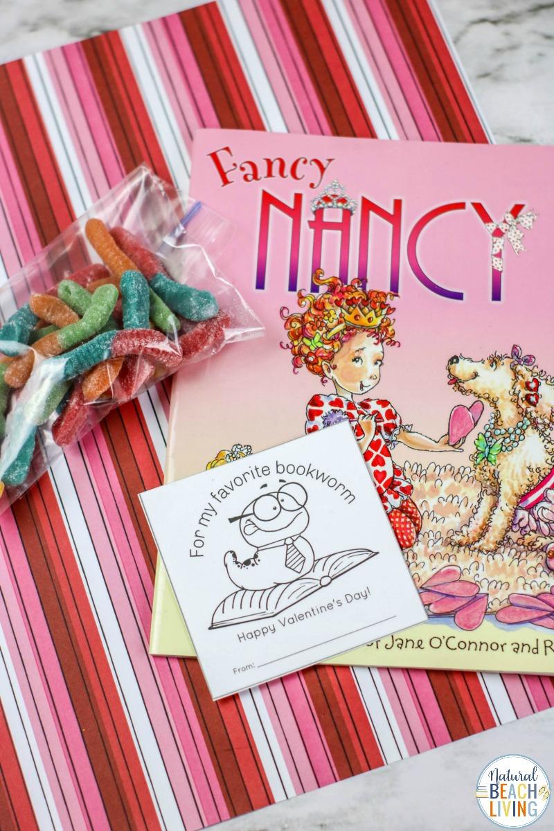 Preschool Valentine Cards for Bookworms