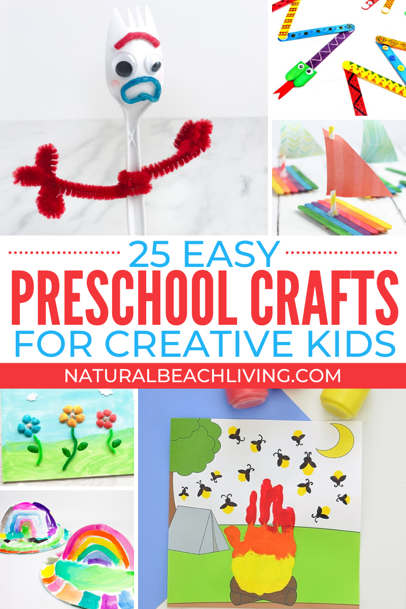 30+ Easy Preschool Crafts for Home or Classroom